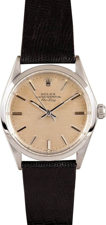 Rolex Air King Vintage Stainless Steel Oyster Perpetual Men's Watch 5500