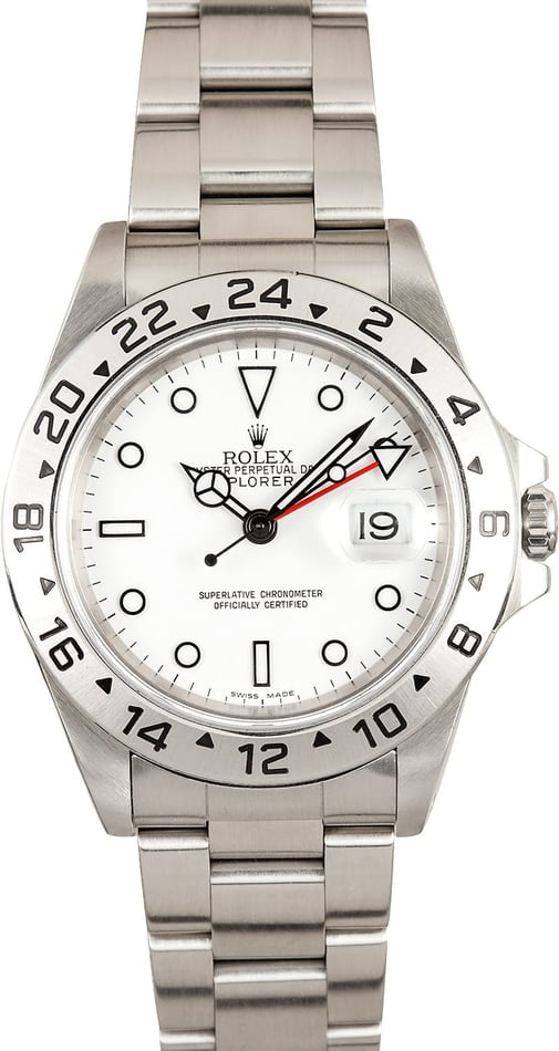 Pre Owned Rolex Explorer II White Dial 16570