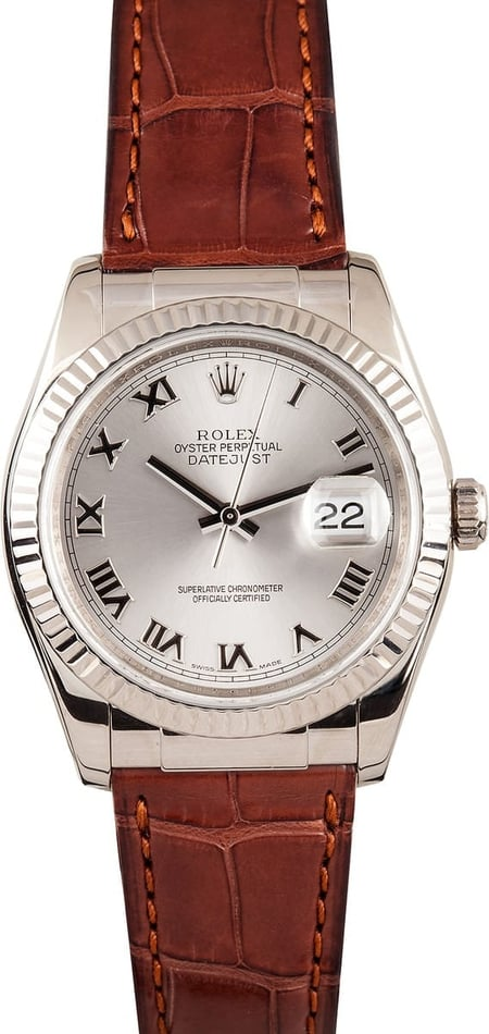 White Gold Rolex DateJust 116139