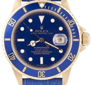 Rolex Submariner 18k Gold 16808, Transitional Dial