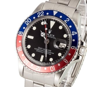 Rolex Vintage GMT 1675 Red/Blue Bezel