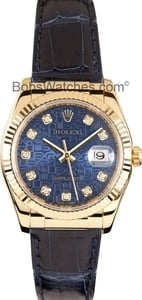 Rolex DateJust 18k Gold with Jubilee Diamond Dial