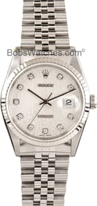 Men's Rolex DateJust 16234 Silver Jubilee Diamond