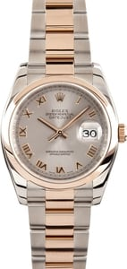 Pre-Owned Men's Rolex DateJust Watch Rose Gold 116201