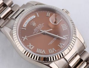 Mens Rolex President 18k White Gold w/ Copper Dial