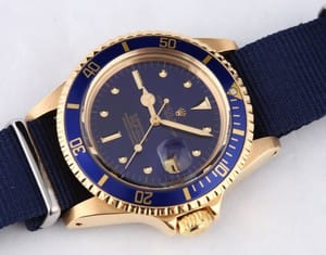 Vintage Rolex Submariner All 18k Gold 1680
