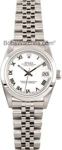 Rolex Datejust Midsize Watch 68240 Stainless Jubilee