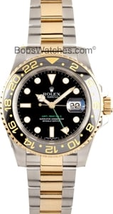 Used Rolex Men's GMT Master II Ceramic Bezel Two-tone Watch