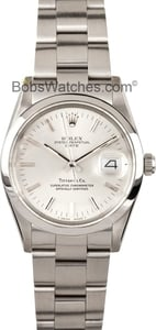 Used Rolex Date Stainless Steel Tiffany Dial 15000
