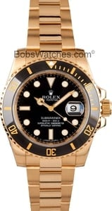 Mens Black Rolex Submariner 116618