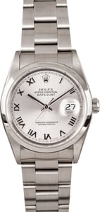 Men's Rolex Datejust Silver Roman 16200