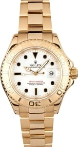 Rolex Yachtmaster 18k Gold 16628 Full Size Pre-Owned