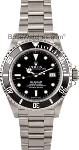 Mens Rolex Sea-Dweller Model 16600 Stainless, Pre Owned at Bob's Watches