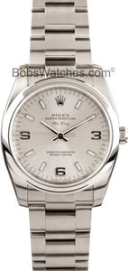 Men's Pre-Owned Rolex Air-King Stainless Steel 114200
