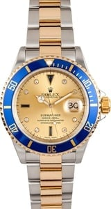 Blue Rolex Serti Dial Submariner 16613