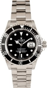 Certified Pre-Owned Rolex Submariner 16610 No Holes Case