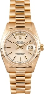 Men's Used Rolex President Gold Day-Date Model 18038