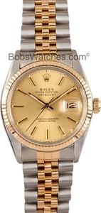 Rolex Mens Datejust Two tone Jubilee 16013