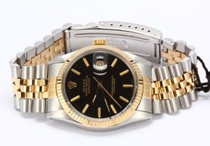 Men's Pre-Owned Rolex DateJust Steel and Gold 16013