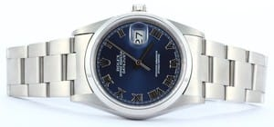 Men's Rolex Datejust 16200 Blue Dial