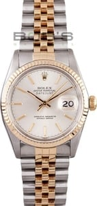 Men's Pre-Owned Rolex DateJust Stainless Steel and Gold 16013