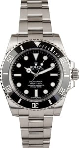Rolex No Date Submariner 114060 Black Dial