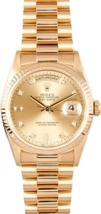 Rolex 18K Day-Date 18238 Diamond Dial