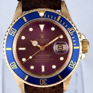 Rolex Submariner 18k Gold 16808