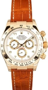 Rolex Daytona Yellow Gold Leather