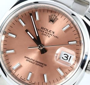 Used Rolex Date 115200 Salmon Dial