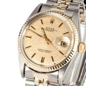 Rolex Vintage Datejust Two Tone 1601