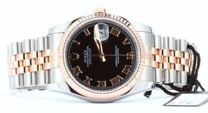 Rolex Mens Datejust 116231 Stainless and Rose Gold