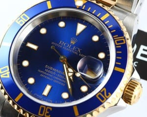 Used Rolex Two Tone Submariner 16613
