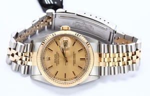 Datejust Rolex 16013 Stainless and Gold