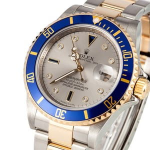 Mens Rolex Serti Dial Submariner 16613
