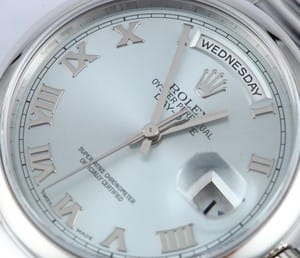Platinum Rolex Day Date 118206