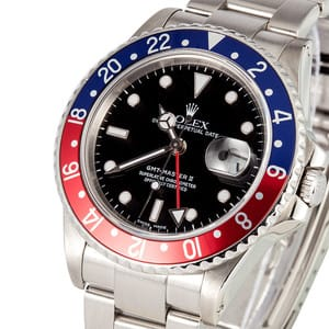 Men's Rolex GMT-Master II Pepsi Bezel Model 16760