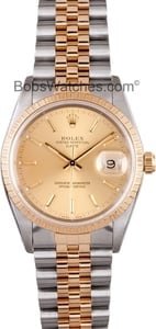 Rolex Date Steel and 18K 15233