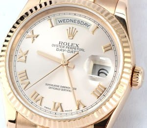 Mens Rolex President 18k Rose Gold 118235