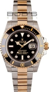 Mens Rolex Diamond Submariner 116613 Two Tone