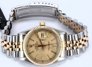 Used Rolex Oyster Perpetual DateJust Stainless Steel and Gold 16013 Tapestry