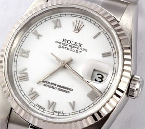 Rolex Datejust 16234 White Roman