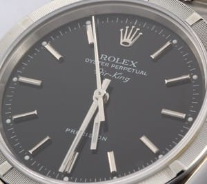 Pre Owned Rolex Air-King Stainless Steel Black Dial 14010M