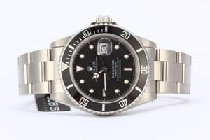 Used Rolex Submariner 16610 w/ Black Dial