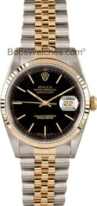 Men's Pre Owned Rolex DateJust 16233 Steel & 18K