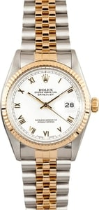 Rolex DateJust 16233 White Roman