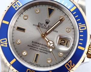 Rolex Serti Dial Submariner 16613 Mens