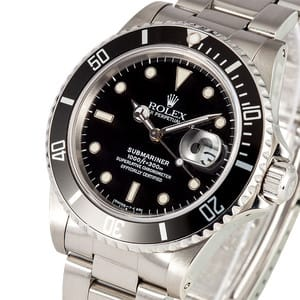 Used Rolex Submariner 16800 Black