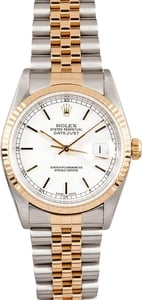 Rolex DateJust 16233 White Index