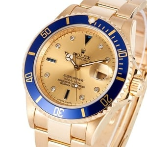 Rolex Gold Serti Submariner 16618